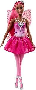 Barbie  Dreamtopia, muñeca hada con falda rosa, juguete +3 años (Mattel FJC86)