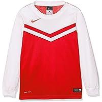 Nike Long Sleeve Top YTH Victory II Jersey, Bambini, Jersey Victory II LS, rosso università / bianco, M
