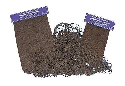 linoows Fischernetz, dekoratives Fischnetz Braun, Baumwoll Netz 200 x 400 cm (Dekorative Fischernetz Braun)