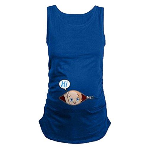 Q.kim donna maglietta premaman senza maniche/maniche corte/maniche lunghe t-shirt divertente neonato - hi serie