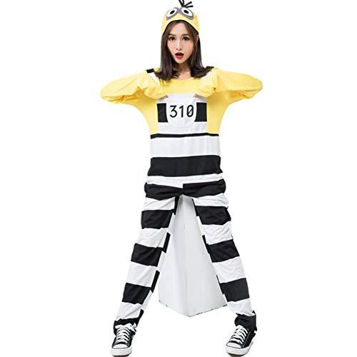 ASDF Cartoon Charakter Spielen Kleidung Halloween gelb gestreiften - Mädchen Zeichentrickfilm Figur Kostüm