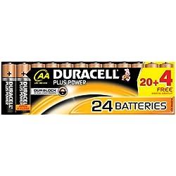 """DURACELL pile alcaline""""PLUS POWER"""", Mignon, 20+4 GRATUITS"""