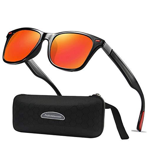 Perfectmiaoxuan Gafas de sol polarizadas Hombre Mujere Lujo Retro/Aire libre Deportes Golf Ciclismo Pesca Senderismo 100% protección UVA gafas unisex golf conducción Gafas gafas de sol (o1range)
