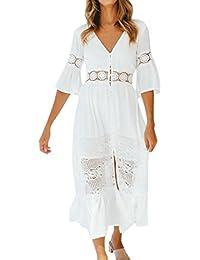 Amazon.es  vestidos ibicencos mujer blanco  Ropa fb2cc829c62e