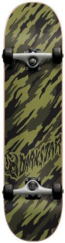 Darkstar Skateboard, komplett 20,3 cm (8 Zoll) grün - Camo Army Green