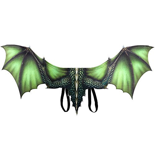 NAMI CODE Halloween Wings Vlies 3D Dragon Wings Halloween Requisiten Dekorationen Accessoires Festliche Party Supplies,Green (Green Dragon-party Dekorationen)