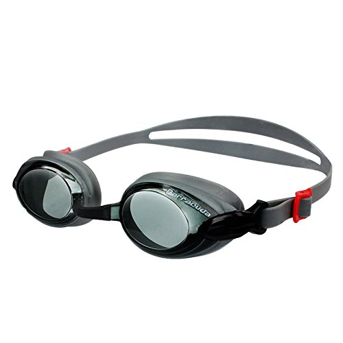 Dr.B Barracuda RX - Optische Schwimmbrille mit Sehstärke (Diverse zwischen +1.0 bis + 3.0) für Damen und Herren, 100% UV-Schutz, Anti-Beschlag-Beschichtung #92295 (+3.0)