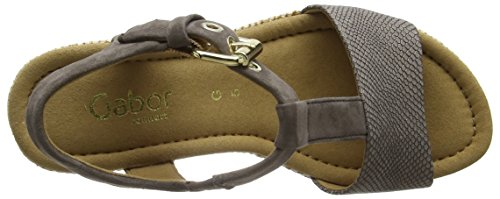 Gabor Shoes Comfort, Sandali con Zeppa Donna Marrone (torba/fango Bast)