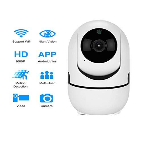 Shmll telecamera wifi, videocamere di sorveglianza con visione notturna, audio bidirezionale, notifiche in tempo reale del sensore di movimento