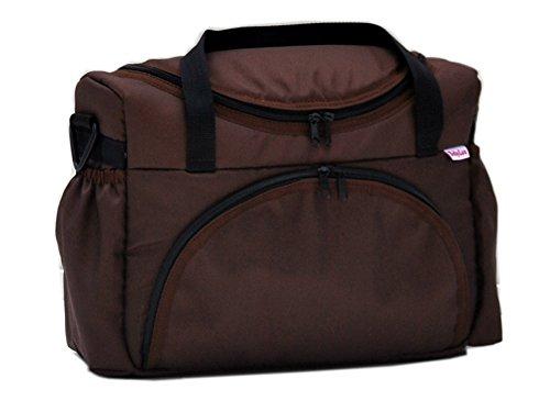 BABYLUX Pflegetasche WICKELTASCHE Kinderwagentasche Windeltasch für Kinderwagen (Grafit) Braun