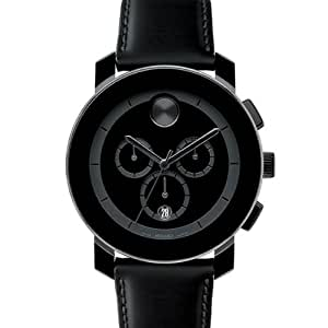 Movado Bold Chronograph Leather Unisex Watch 3600014