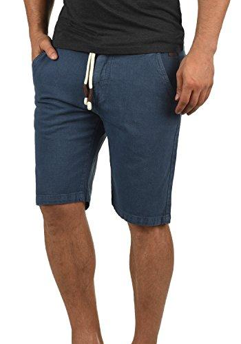 Redefined Rebel Malin Herren Chino Shorts Bermuda Kurze Hose Mit Kordel-Gürtel Aus 100% Baumwolle Regular Fit, Größe:M, Farbe:Mid Blue