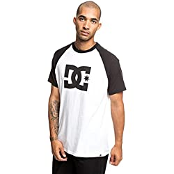 DC Shoes Star T-Shirt, Hombre, Black/Snow White, L