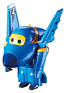 Alpha Animation & Toys- Super Wings YW710030 Mini Transform a Bots Jerome Flugzeug, Color Negro, Azul, Amarillo (