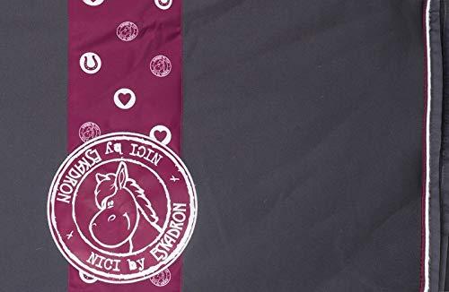 ESKADRON Abschwitzdecke Nici Jersey Stripe, M (135 cm), anthra - burgundy