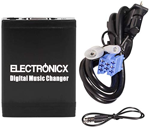Electronicx Elec-M06-BLAU Adaptateur USB, MP3 AUX SD Bluetooth kit mains libres Interface audio autoradio pour Blaupunkt