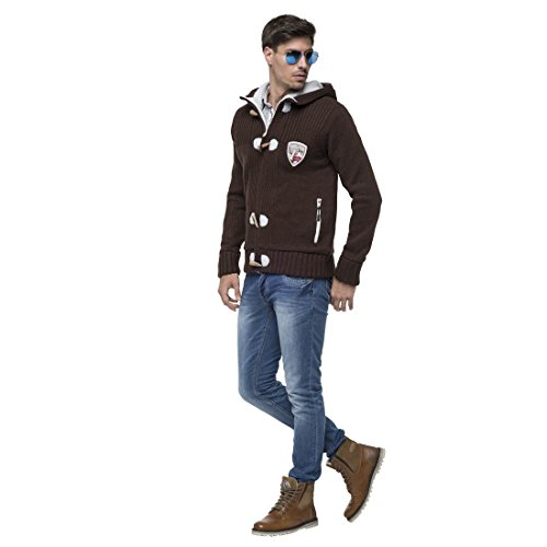 T382 - Strickjacke JEDRO, Jacke, Windbreaker brown