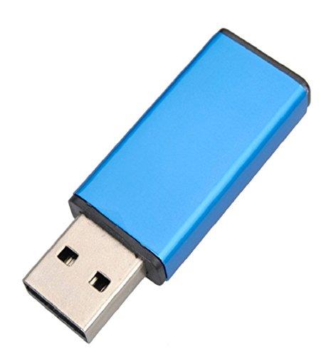 Tonsee 1GB/2GB /4GB/ 8GB/16GB/32GB/64GB Aluminium USB 2.0 Flash Laufwerk Speicher Thumb Stick Pen digitalen U Speicherplatte (4 GB, blau)