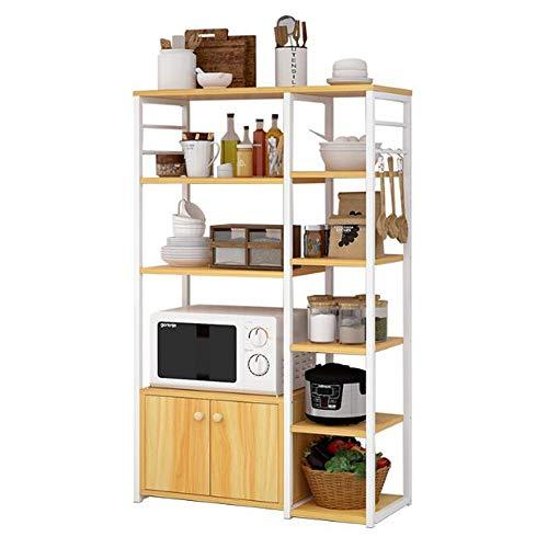 Perfekte Mikrowelle Nofenständer, Utility Storage Cart Organizer, Boden Multi-Layer, freies Stanzen, kann eingehakt Werden, geeignet für Home Kitchen Verwenden - 5 Schublade Storage Cart
