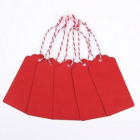 AKA® 100PCS Christmas Kraft Paper Gift Tags Price Wedding Scallop