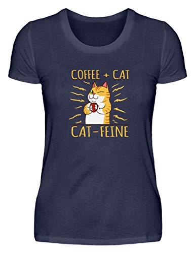 Katzen und Kaffee T-Shirt Catfeine Katze Kater