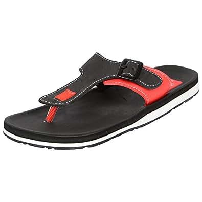 Adda Men's Omega 1 Black Red Flip Flops 7 UK (Omega 1 Black-Red-7)