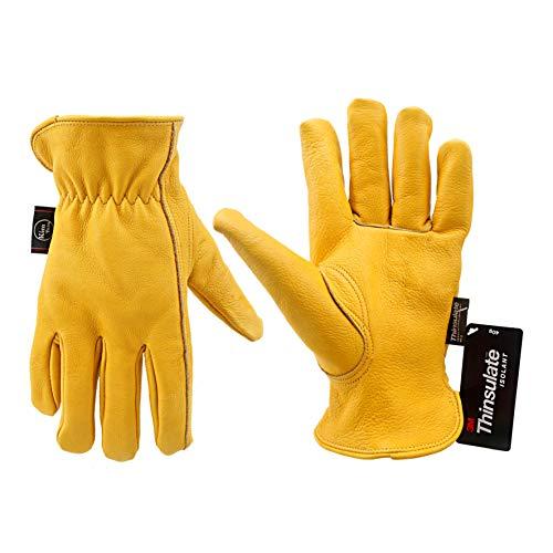 KIM YUAN Winter Warme Arbeitshandschuhe 3M Thinsulate Futter Perfekt für Gartenarbeit/Schneiden/BAU/Motorrad, Männer & Frauen XL