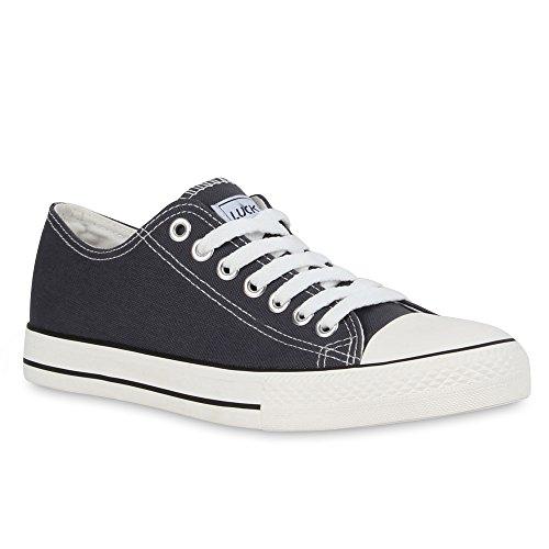 Herren Sneakers | Freizeitschuhe Sportschuhe | Schnürer Stoffschuhe |Fitness Streetstyle | viele Farben Dunkelgrau