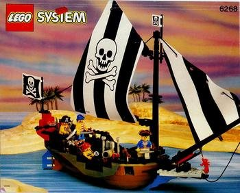 LEGO System Piraten 6268 Einmast-Piratensegler