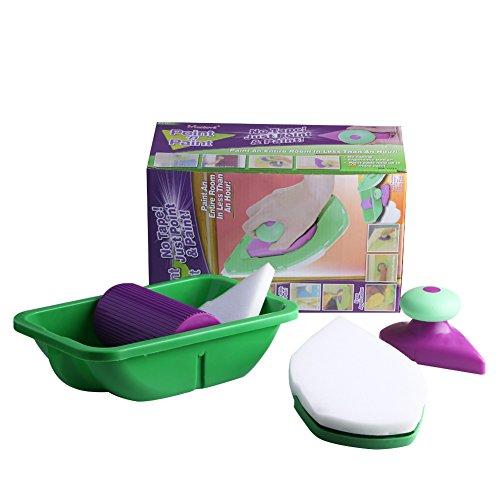 Preisvergleich Produktbild Wandstreich-Set mit 3 Aufsätzen und Farbwanne,  für dekorative Wandfarben