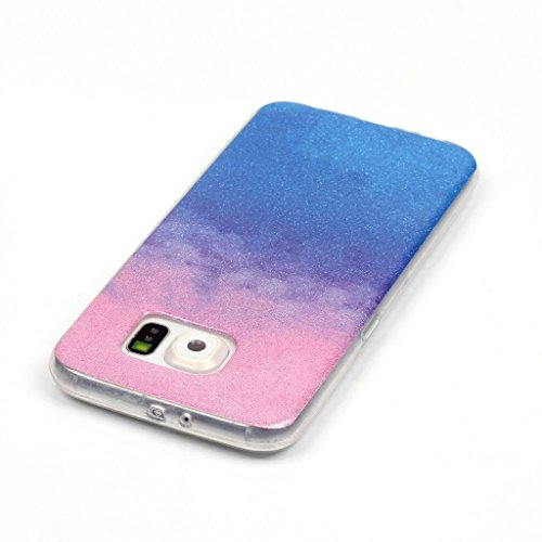 Uming® Retro bunte Muster Druck weiche TPU Fall Abdeckung Hülle Case Cover ( Gradient (Gold) - für IPhone 5C IPhone5C ) Silicone Silikon Shell Schutz Handy-Fall Cellphone Case Gradient (pink blue)
