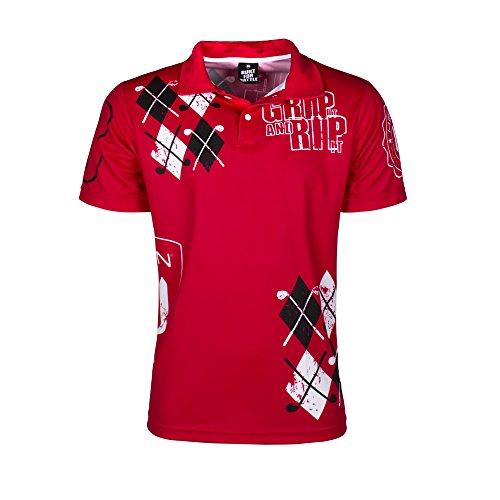 HELLION® Golf Polo Jersey Grip it I Taglia S - XXL I Performance Poloshirt - la Maglia da Golf Premium (S)
