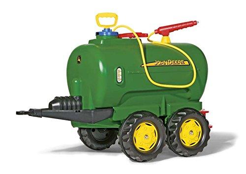 *Rolly Toys 122752 rollyTanker John Deere | Fassanhänger voll funktionsfähig | Tankwagen inkl. Pumpe, mit Spritze und Auslaufhahn | für Kinder ab 3 Jahren | Farbe grün | TÜV/GS geprüft*