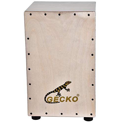 GECKO Trommel Box Cajon Trommelbox Schlagzeugbox Holz flache Hand Drum Portable Accompagnante Werkzeug Musikinstrument