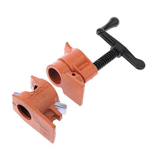 JunYe Rohrschelle für die Holzbearbeitung Gusseisen-Rohrschellen für die Holzverklebung Schwerer Steckverbinder - 6# - Cast Iron Screw Clamp