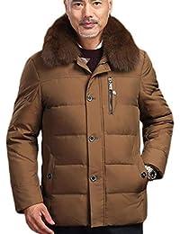 GKKXUE Piumino Invernale da Uomo papà di Mezza età Abbigliamento Invernale  Giacca Calda addensata di Mezza età (Colore   Giallo 265245a07ba