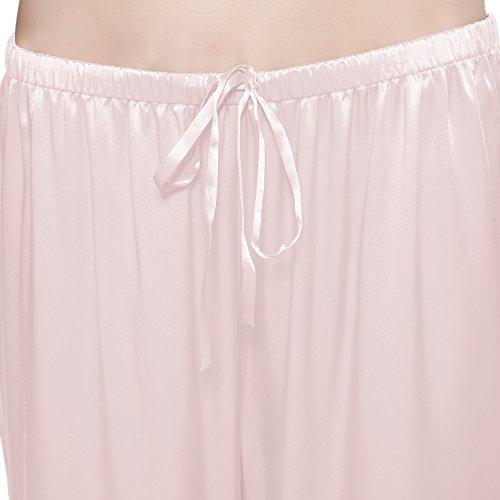 LILYSILK Pyjama Femme 100% Soie Manches Courtes Pyjama Soie Rose Clair