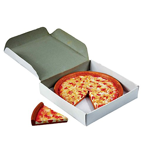 Pizza Queen Delicious Looking 18 Inch Doll Cheese Pizza. Pizza Has Cut Slice and Authentic Style Pizza Box. Great Food Accessories for American Girl Dolls Kitchen & Furniture
