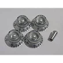 (MADE IN JAPAN)High Quality Bell Knob,Embossed,Silver,inch,Set