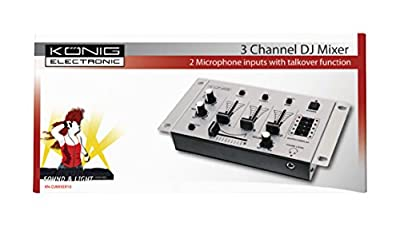 Konig Basic 3-Channel DJ Mixer