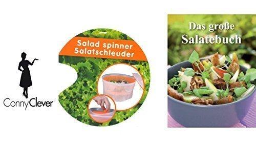 Salatschleuder mit Kurbel + Buch