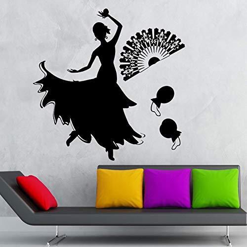 Geiqianjiumai Wohnkultur Dance Passion Excellent Vinyl Wandtattoo Wohnzimmer Mädchen Zimmer selbstklebend Schwarz 42x42cm -