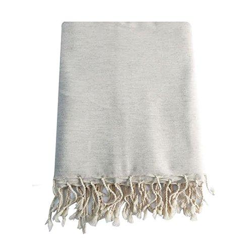 Preisvergleich Produktbild Große Fouta XXL Fouta Farbe Leinen uni 100% Baumwolle 2 m x 3 m Tischdecke Überwurf Vorhänge