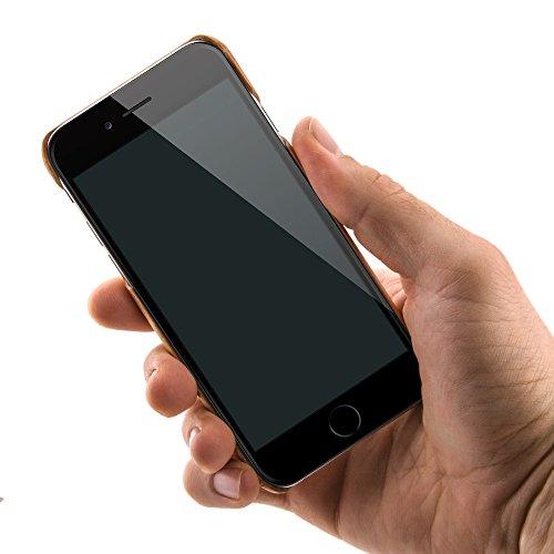 """Holzhülle Case """"Arbor"""" für das Apple iPhone 6S und das iPhone 6 4,7 Zoll aus echtem Walnuss Holz und Kevlar. Extrem stabile und dünne Schutzhülle für das Original Apple iPhone 6/6S von QUADOCTA Kirsch"""