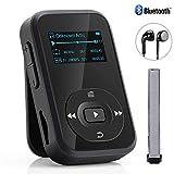 Bluetooth MP3 Player, Baonuor Mini MP3 Player mit Clip für Sport- und...
