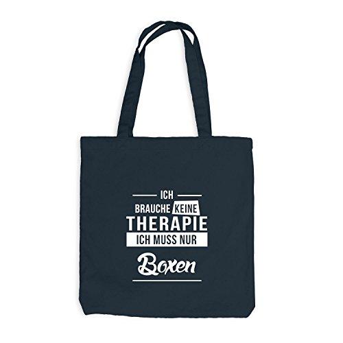 Jutebeutel - Ich Brauche Keine Therapie Boxen - Therapy Sport Training Dunkelgrau