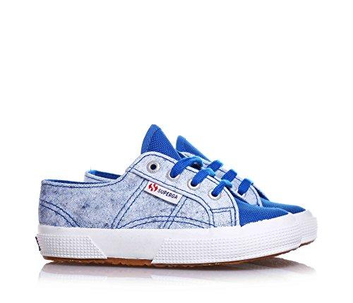 SUPERGA - Blau-hellblaue Schuhe mit Schnürsenkel, aus Canvas, einfaches und leichtes Design, jungen, jungs, kind Blau