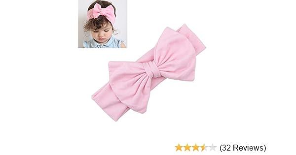 Toddler Girls Baby Kids Bow Headband Hairband Stretch Turban Knot Head Wrap j-c