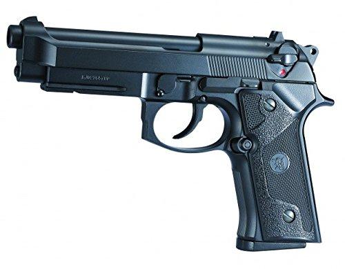 AIRSOFT KJ WORKS Pistole M92/M9A3 schwarz- Semi Automatische GAS & Zylinderkopfdichtung Mobile Alles Metall (0,5 Joule) (Semi-automatische Pistole)