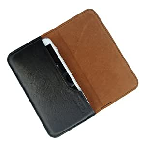 i-KitPit : Genuine Leather Flip Pouch Case Cover For LG Optimus L9 (P765) (BLACK)